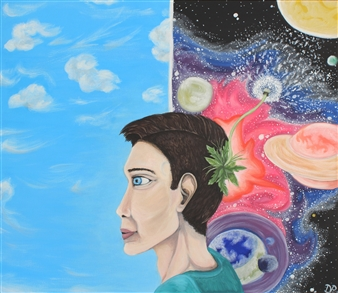 David Pallua - Mind Acrylic on Canvas, Paintings