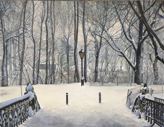 Alexandr Mischan - Old New Year Oil on Canvas, Paintings