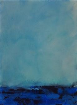 Pia Sjölin - Contemplation Acrylic on Canvas Board, Paintings