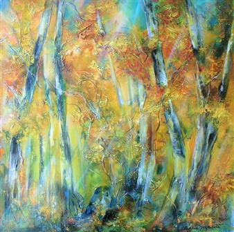 Caroline Degroiselle - Palette of Fire and Heart of Ash Acrylic on Canvas, Paintings