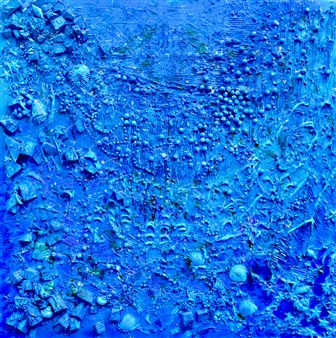 Stivi - Background of the Ocean Acrylic & Mixed Media on Canvas, Mixed Media