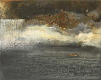 Marina Maltezou - Anxiety Oil on Birch Panel, Paintings