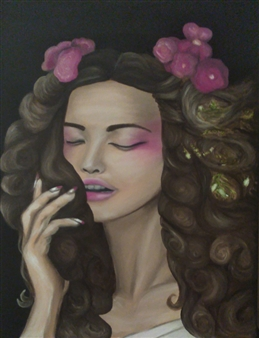 Katha B - Say the Magic Words Oil on Canvas, Paintings