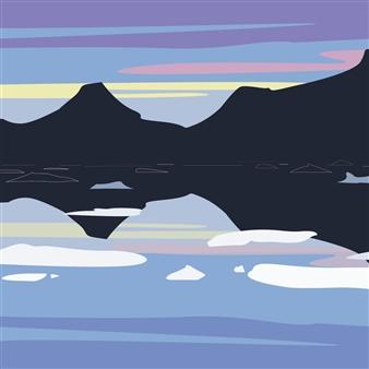 Phil Leith-Tetrault - Tasilaq Fjord at Dusk Digital Print on Paper, Prints