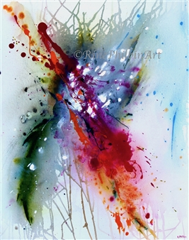 Rine Philbin - Abstract #5 Acrylic on Canvas, Paintings