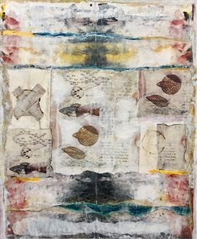 Lorena Becerra - Yo Tenia un Mar (I Used to Have a Sea) Collage & Mixed Media on Canvas, Mixed Media
