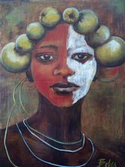 Clara de Bobes - Surma Girl Oil on Canvas, Paintings