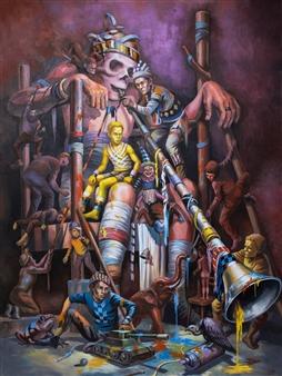 Mr. Sajja Sajjakul - Brain Hunter Oil on Canvas, Paintings