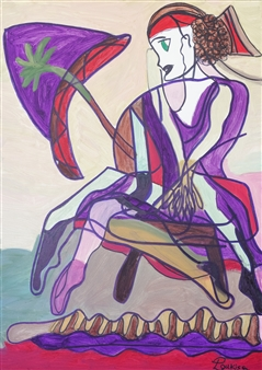 Yotta - Woman in Decision Oil on Canvas, Paintings