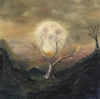 Tsila Mackay - Origin of Darkness Oil on Canvas, Paintings