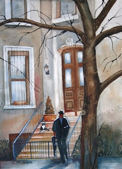 Tammy Phillips - The Companion Watercolor on Paper, Paintings