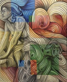 Don Kosta - Illusion Acrylic on Canvas, Paintings