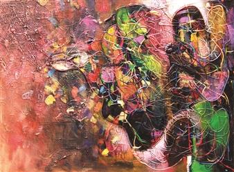 Saurabh Mohan - Conversation Acrylic on Canvas, Paintings
