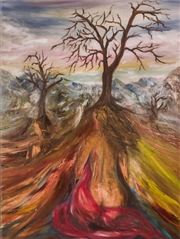 Dora Duran - Strong Like a Tree Oil on Canvas, Paintings