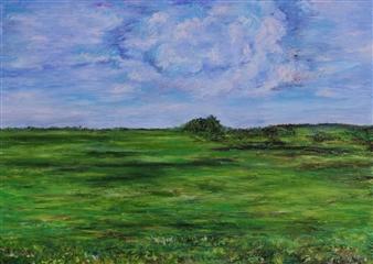 Oleg Kirnos - Summer. Cloud Oil on Canvas, Paintings