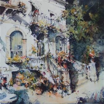 Alejandro Miras - Villa Laura Watercolor, Paintings