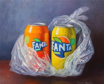 Rodolfo Regaño - Orange and Lemon Oil on Board, Paintings