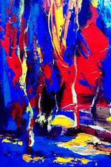 Babis (Bujar) Arizi - Untitled 2 Oil on Canvas, Paintings