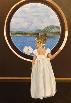Mehrnosh Kaecker - Innocence! Oil on Canvas, Paintings