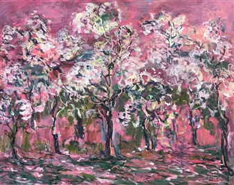 Mushegh Grigoryan - Spring Acrylic on Canvas, Paintings