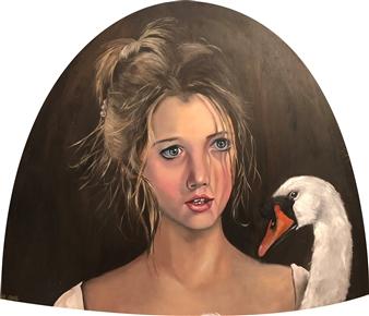 Rosana Largo Rodríguez - Dancer Oil on Canvas of Wood, Bell Shape, Paintings