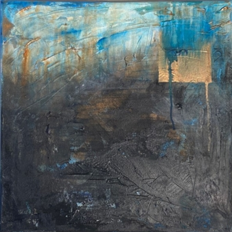 Gia A Sabatini - Storm Mixed Media & Acrylic on Canvas, Mixed Media