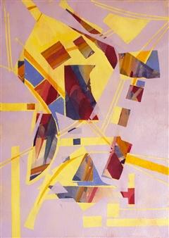 Pauline Rakis - Flying High Acrylic on Canvas, Paintings