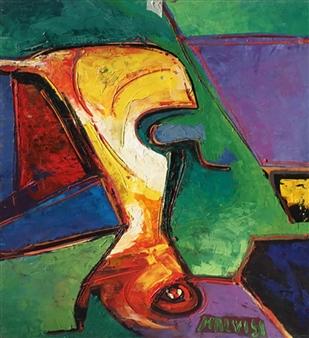 Malvisi - Absolute Primordial Oil on Wood, Paintings