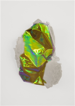 Mateusz von Motz - Prima Materia Energy Stone, Orange VI Mixed Media, Sculpture