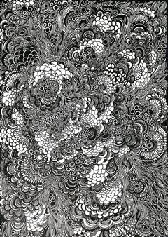 Kaoru Kushima - Abundance Pen on Paper, Drawings