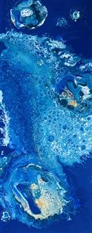 Angela Schiappa - Mediterranean Pearl Mixed Media on Canvas, Mixed Media