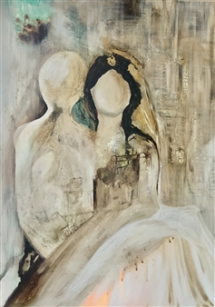 Fariba Baghi - Ceremony Mixed Media on Canvas, Mixed Media