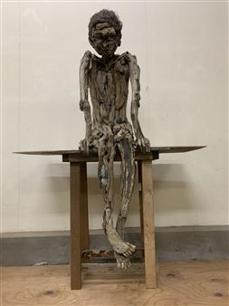 Akemi Fujita - A Boy Wood, Sculpture