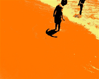 markpizzaArt - Looking For Shells Archival Pigment Print on Aluminum, Photography