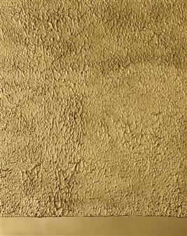 Natalia Gaviria - Gold Peaks Gesso, Acrylic & Spray Paint on Canvas, Paintings