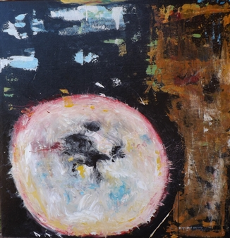 Joan Criscione - I Am Here Mixed Media on Canvas, Mixed Media