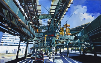 Josep Francés Anaya - Under Train NY Oil on Canvas, Paintings