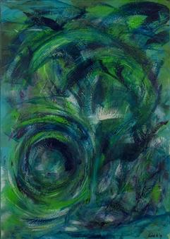 Anna K Art Katja van den Bogaert - Treasure Hunts Acrylic on Linen, Paintings