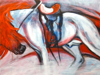 Jutta Schulte - My Horse Acrylic on Canvas, Paintings