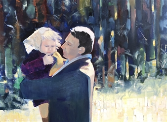 Monika Gloviczki - My Father and I Oil on Canvas, Paintings