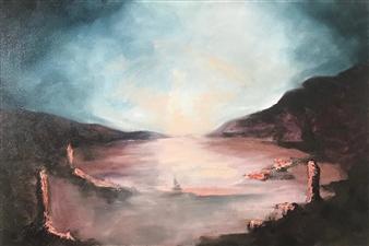 Marc Provisor - Morning Mist Oil on Canvas, Paintings