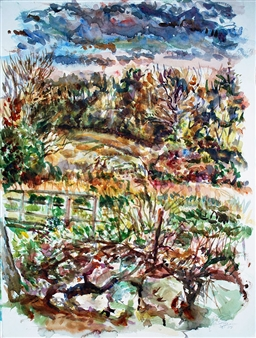 James Chisholm - Garden Street 3-9-10 Watercolor on Paper, Paintings