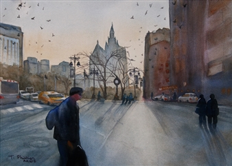 Tammy Phillips - The Pilgrimage Watercolor on Paper, Paintings