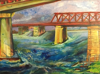 D. L. Brabander - High Water Acrylic & Mixed Media on Canvas, Mixed Media