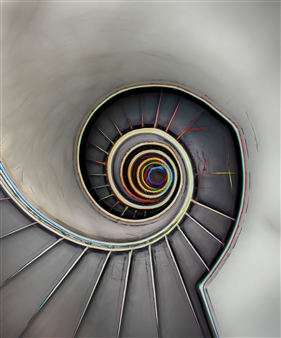 Howard Harris - Bilbao Stairs Digital Sublimation Print on Aluminum, Photography