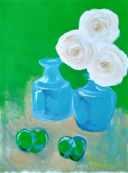 Yu He - Still Life No.592 Acrylic on Paper, Paintings