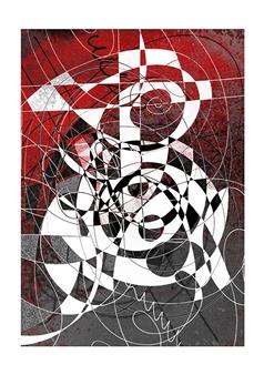 Dar Wolfe - Psychogenesis Mixed Media & Ink on Paper, Mixed Media