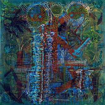 David Syre - Before The Onas Acrylic on Canvas, Paintings