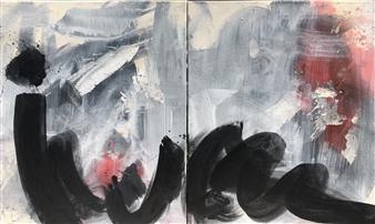 KEO - Stillness Aura Acrylic & Ink on Canvas, Paintings