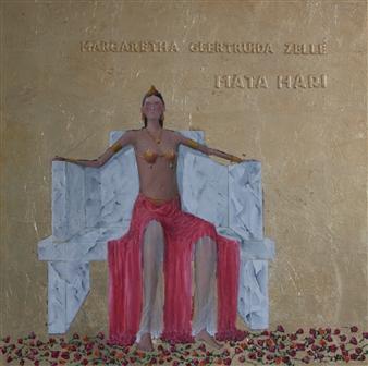 Jorge Garcia-Sainz - Mata Hari Oil on Wood, Paintings